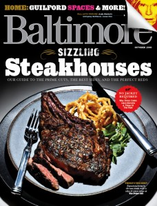 October 2010 cover of Baltimore magazine